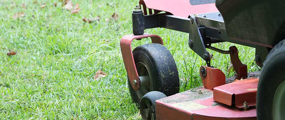 Closeup photo of zero turn lawn mower in Ada, MI.