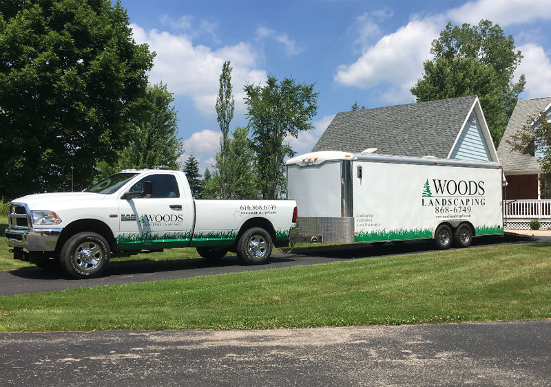 Our company truck and trailer Ada, MI.